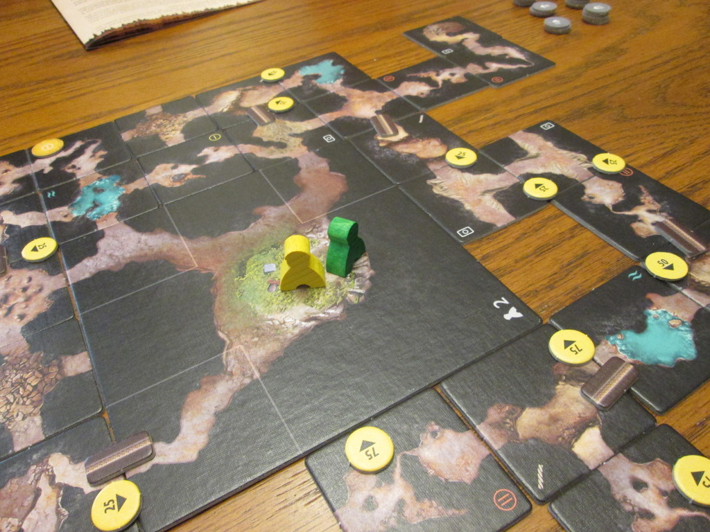 The Cave  has players explore the dangers and complexities of their environment tile-by-tile, with almost every new one bearing its own challenge to overcome ( Robin )