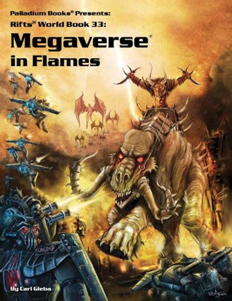 The pen-and-paper RPG Rifts is known for its absurdly over-the-top multiverse setting, where a player's character could be  near anything imaginable, but its attempt at a coherent setting and narrative, filtered through an 80s metal aesthetic, tends towards the schizophrenic at the least.