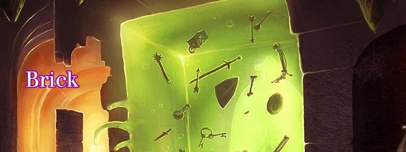 Brick ( The gelatinous green cube by  Raymond E. Gaustadnes )
