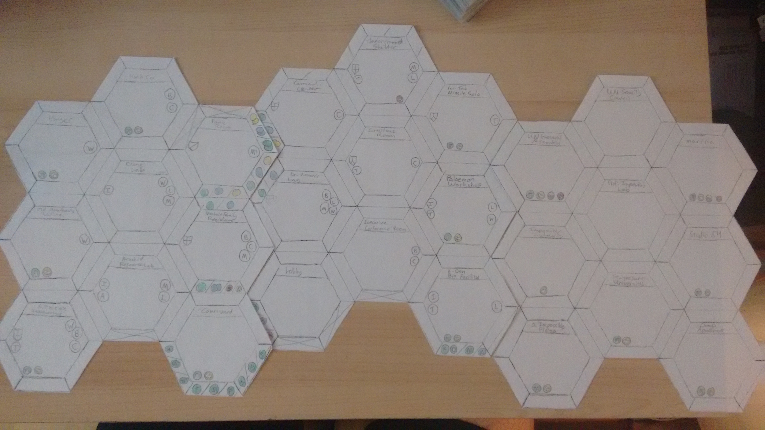 Drafting of newer, hex-based Location Tiles, with Entrance Requirements based on Skill Icons, that have become out-dated while I was working on them. (I also have a feeling I'll have to revamp the NYC Tile anyway as Season 6 airs!)