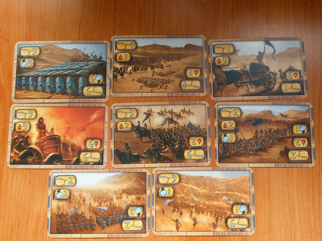 Kemet  uses a small deck of Battle Cards to provide different options in combat, but in a few different ways. ( Balint Lengyel )