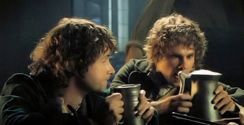 Sharing a pint at the Green Dragon Inn