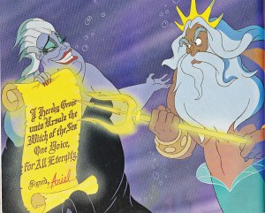 Ursula legally challenges King Triton - The Little Mermaid (1989)