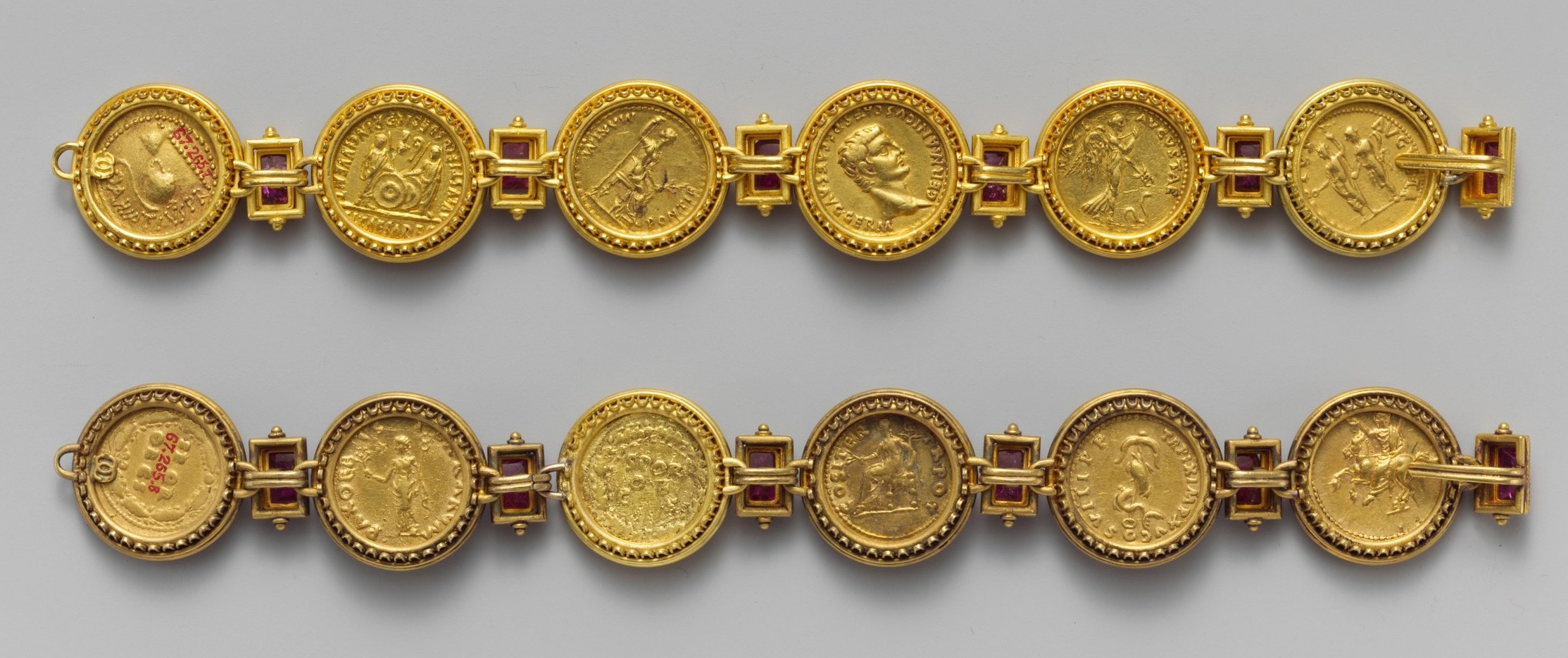 Gold aurei of the Twelve Caesars, ca. A.D. 69–96, from  https://www.metmuseum.org/art/collection
