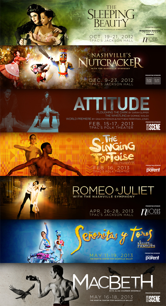 Nashville Ballet 2012-2013 Season One Sheet