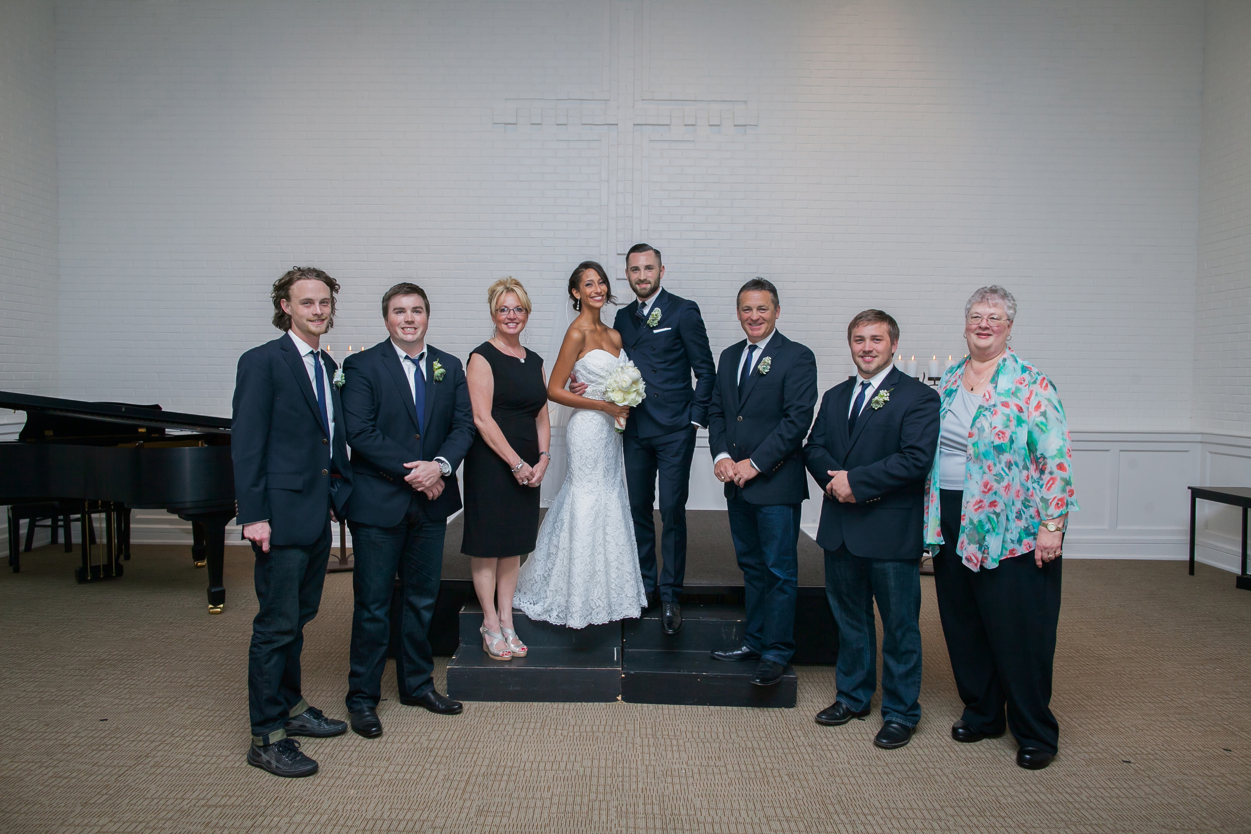 My family at our wedding.