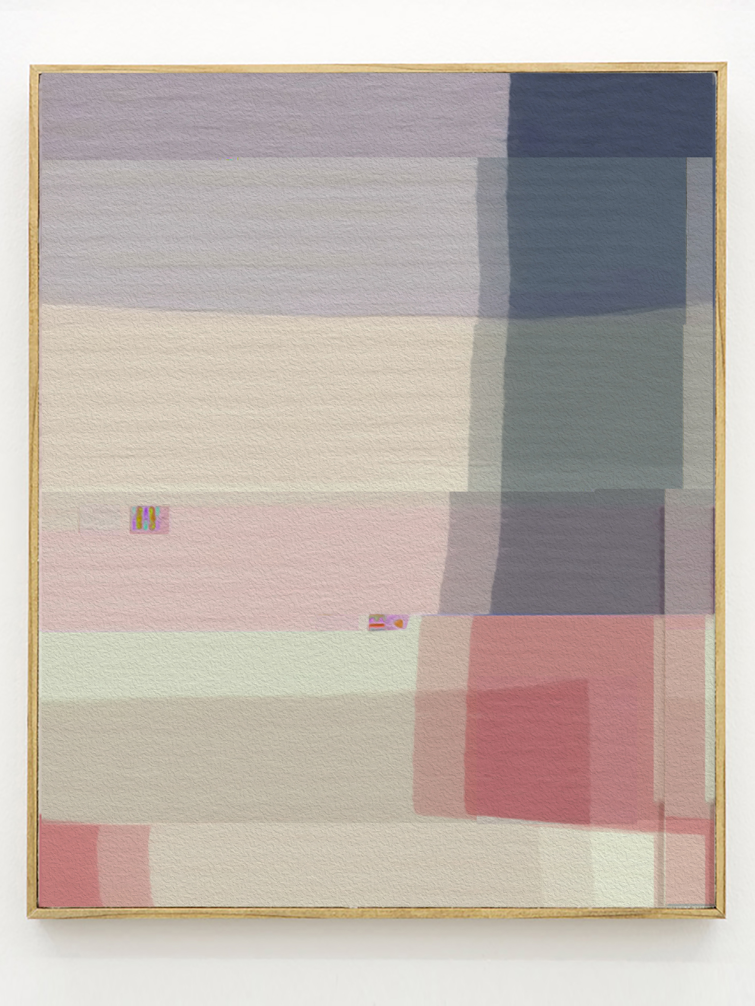 GLITCH QUILT #3   digital print on cotton broadcloth   12 x 16 inches, 2014