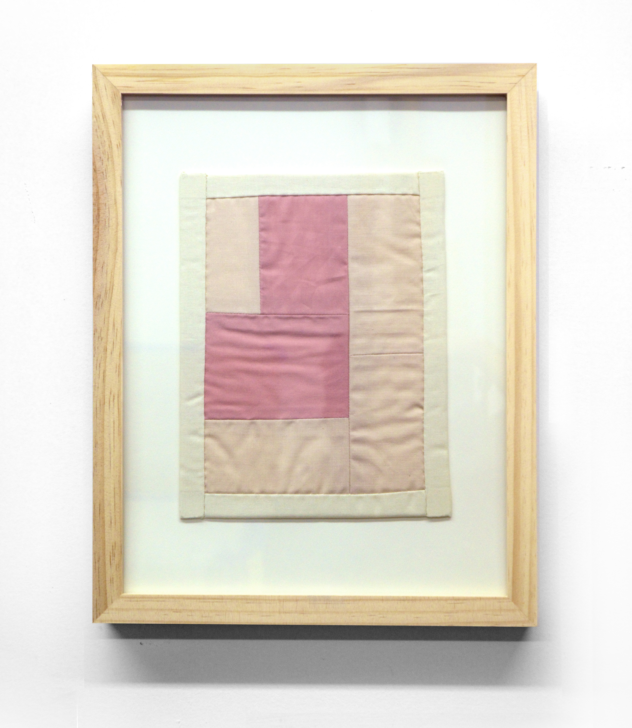 MINI (PINK) cotton quilt and frame   11 x 14 inches,   2014