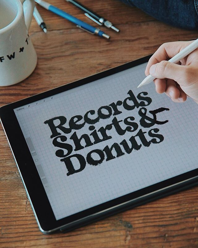 I get hyped ever week Kiefer drops a new video on his youtube series: Records Shirts and Donuts. (I've probably watched episode 4 a hundred times.) You should check it out if you need some Monday creative inspiration 🎹✌️ @kiefdaddysupreme