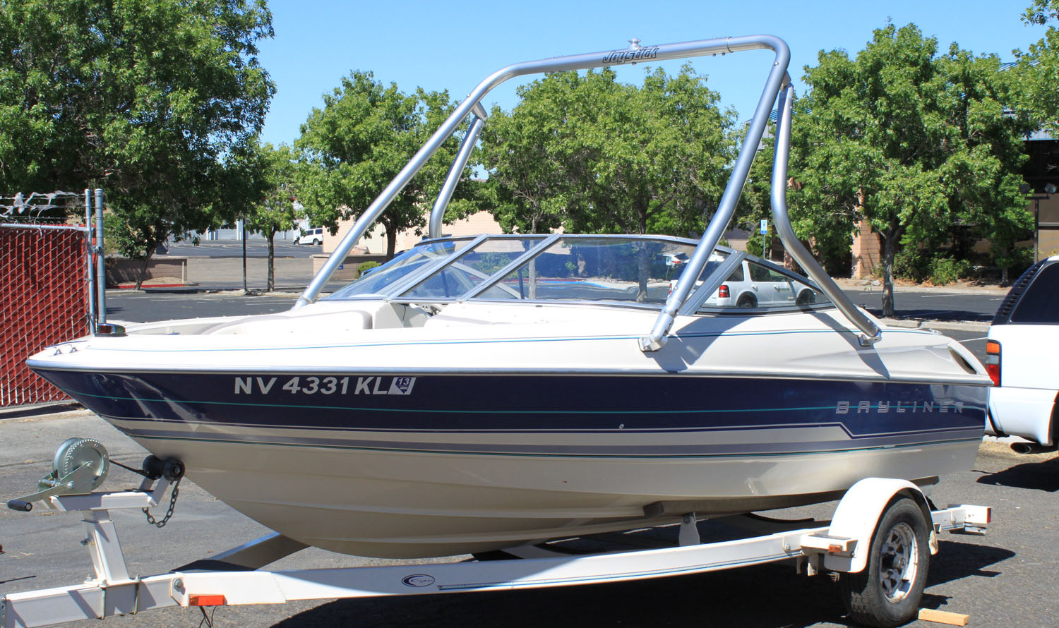 Wakeboard Tower on a 1995 Bayliner 1750