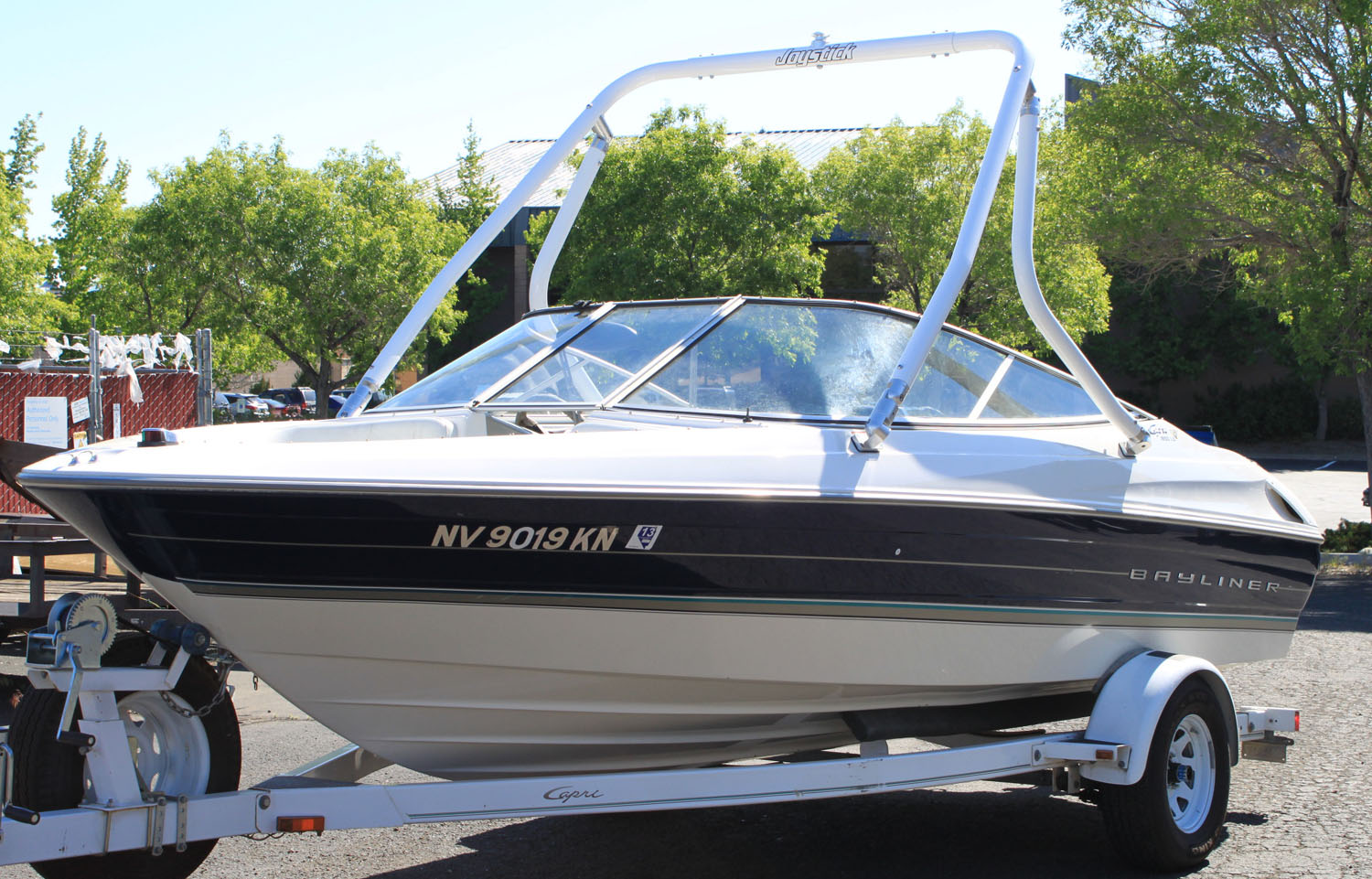 Wakeboard Tower on a 1997 Bayliner 1850 ls