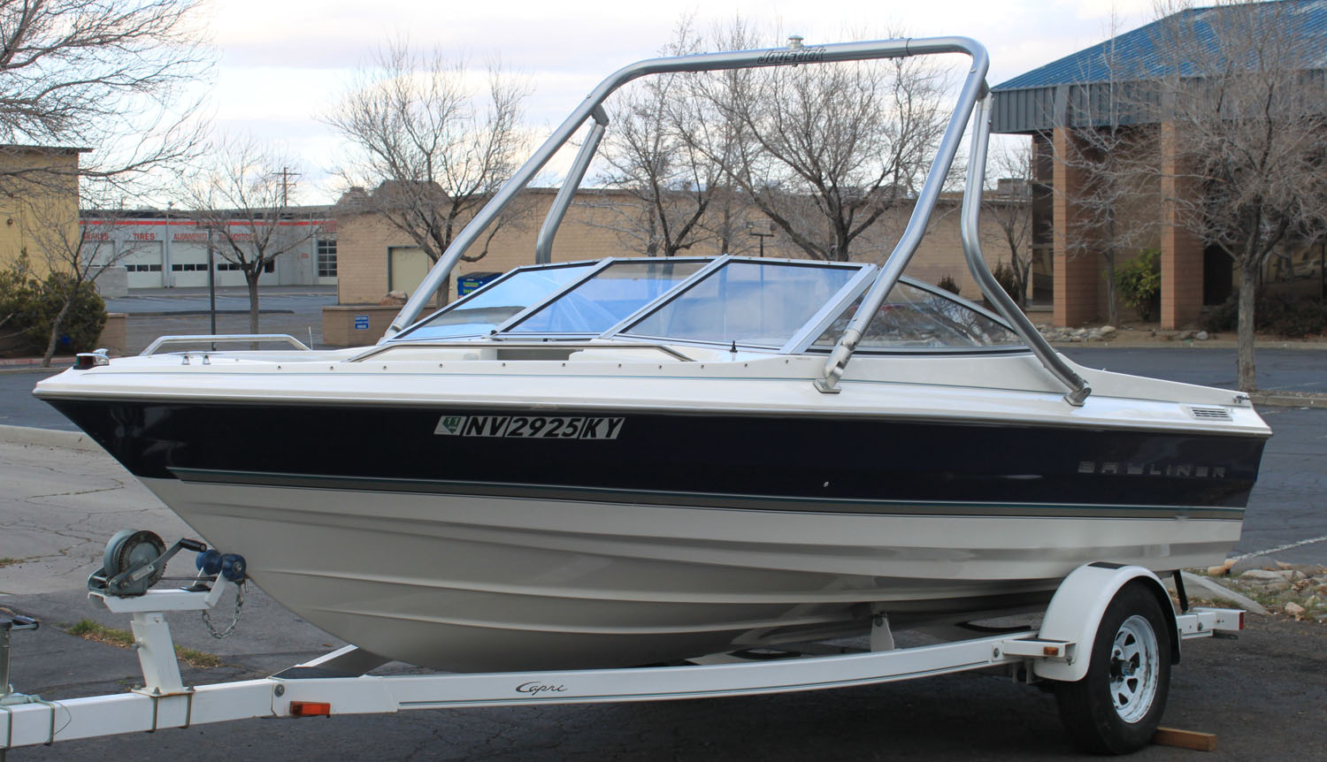 Wakeboard Tower on a 1997 Bayliner 2050 cl classic