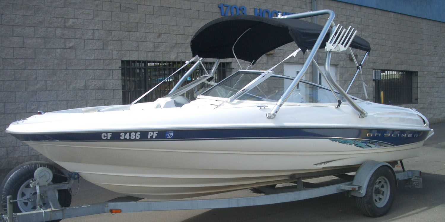 Wakeboard Tower on a 1999 Bayliner 2050