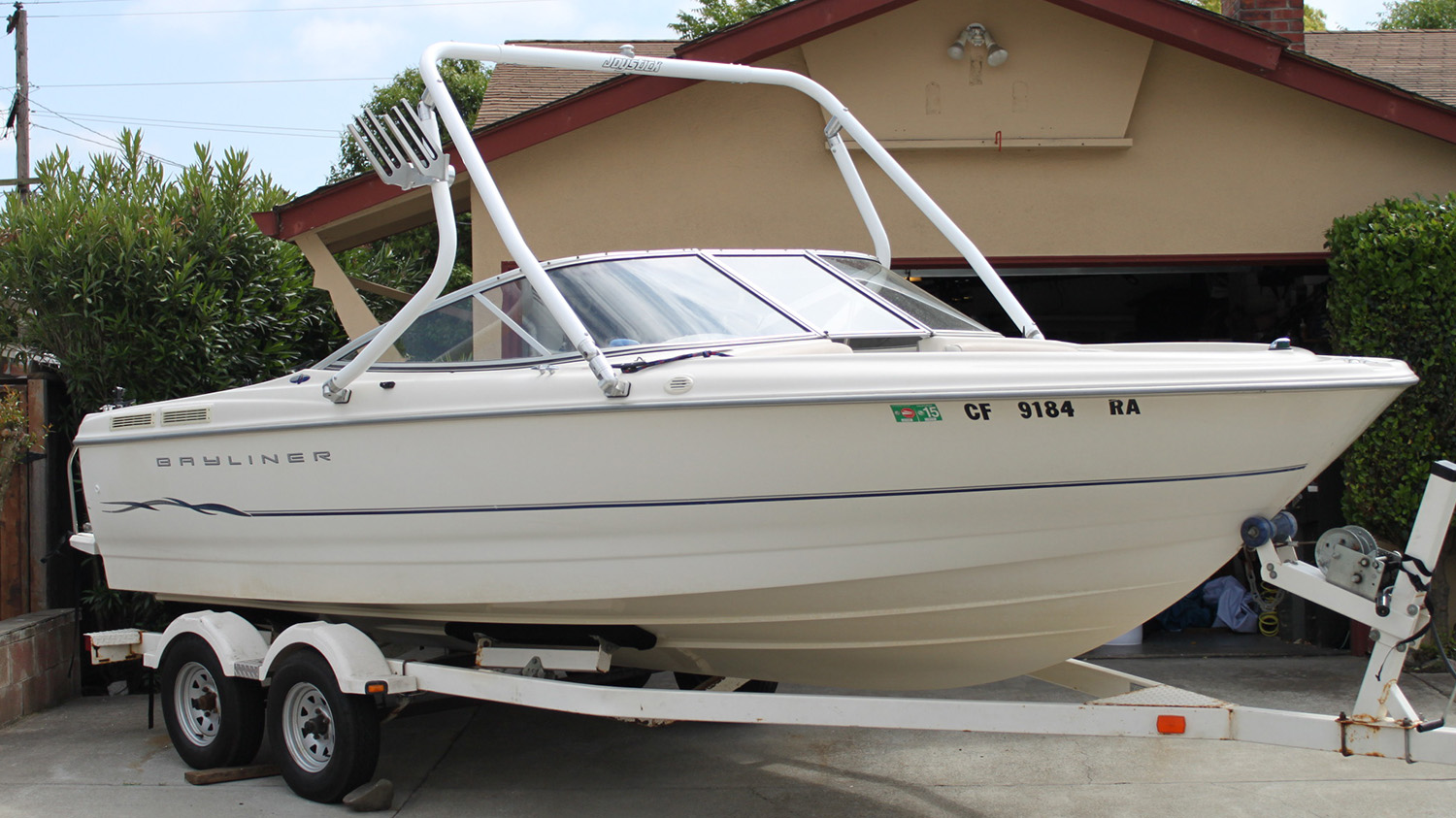 wakeboard tower install 2001 bayliner 2150 classic