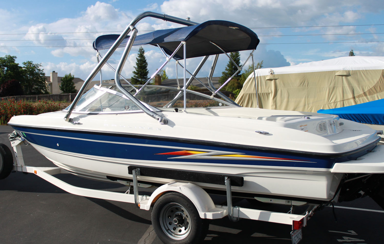 Wake tower on a 2005 Bayliner 205