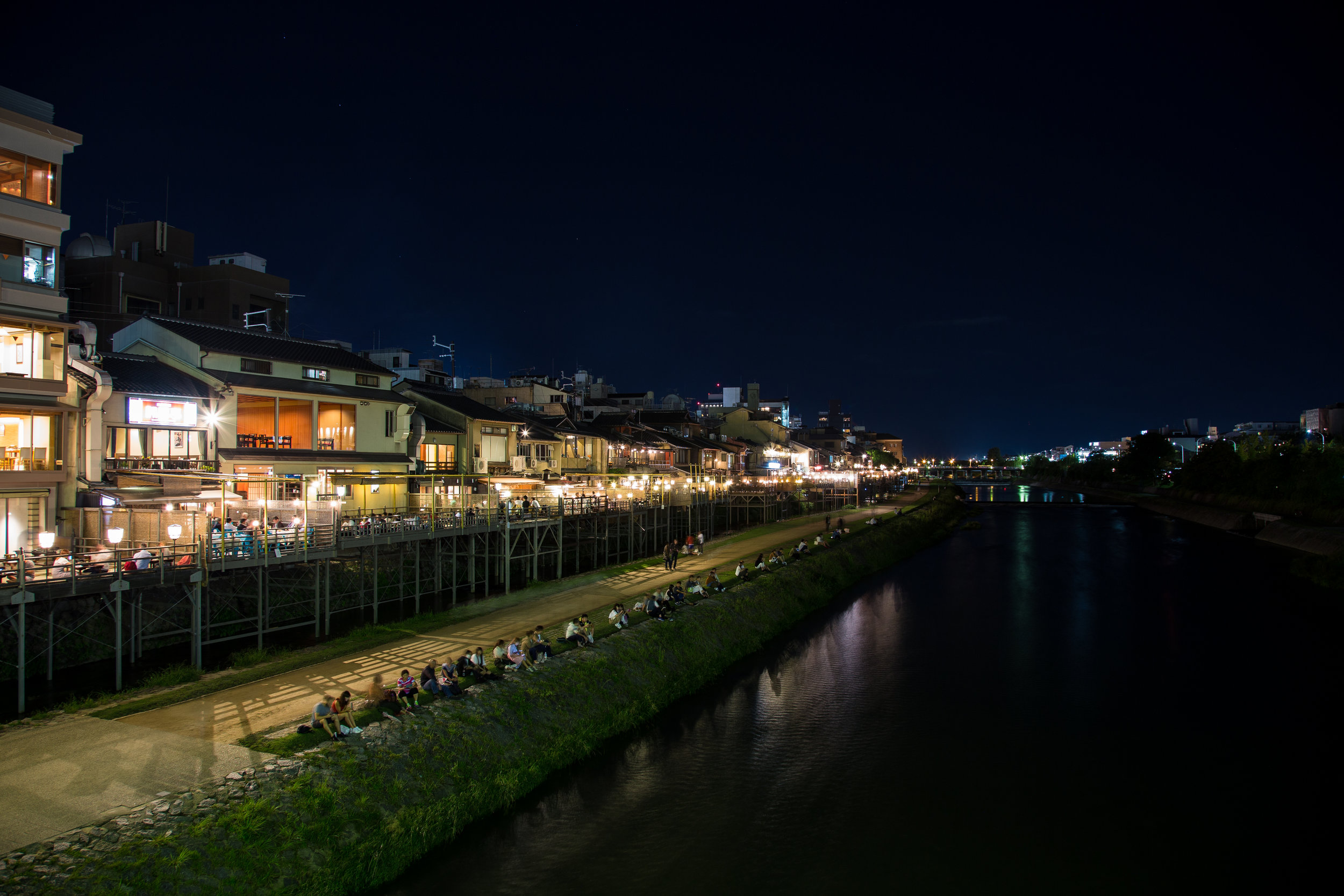 Riverfront in Kyoto
