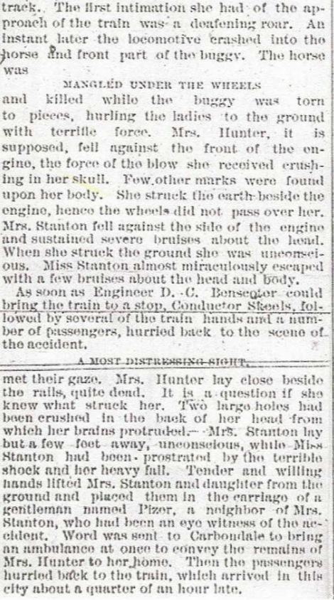 The same article as above, zoomed in a bit to highlight the gruesome detail reporters of the time used in their writing.