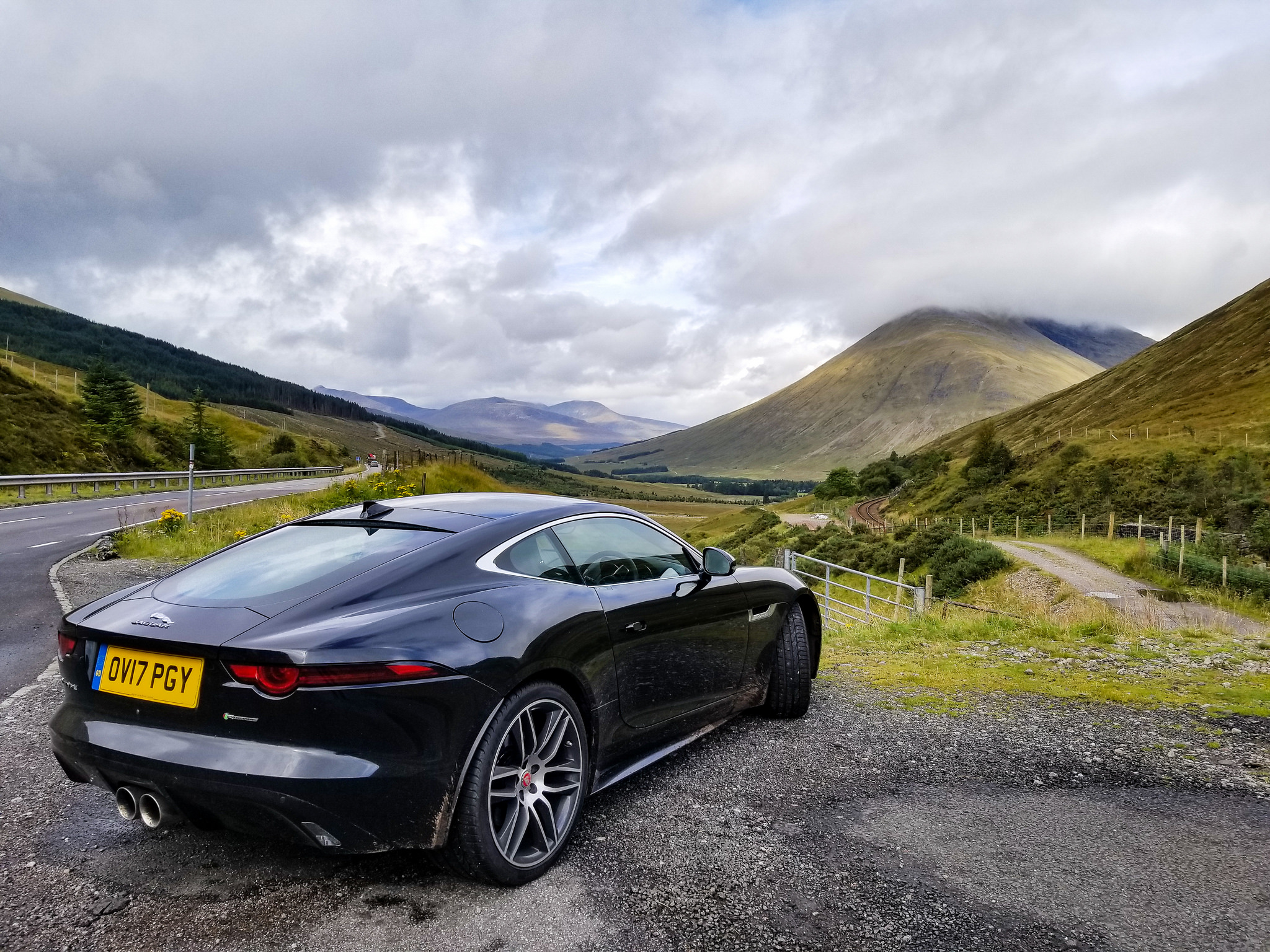 In its element... Jaguar F-Type in the Scottish Highlands
