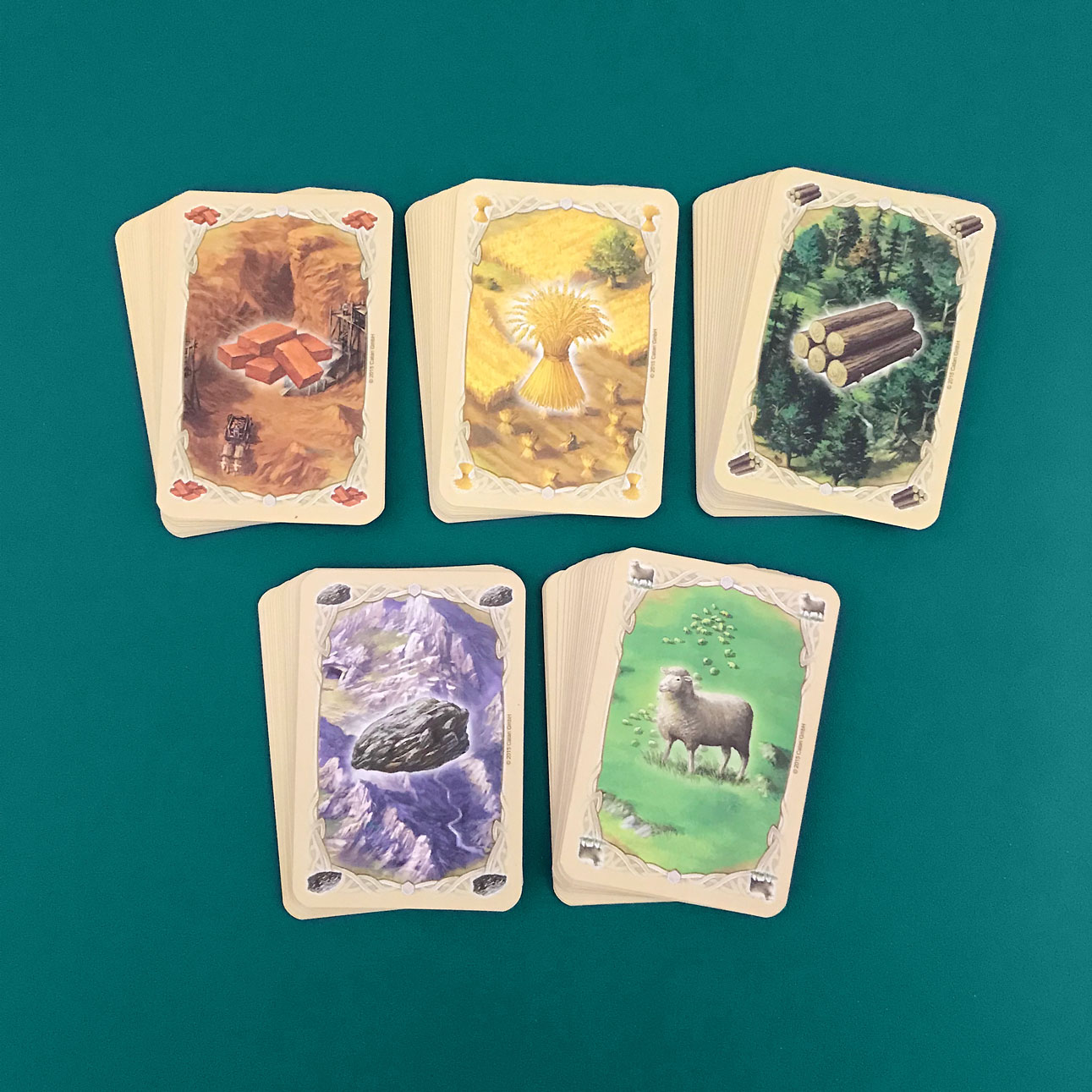 settlers of catan resource cards