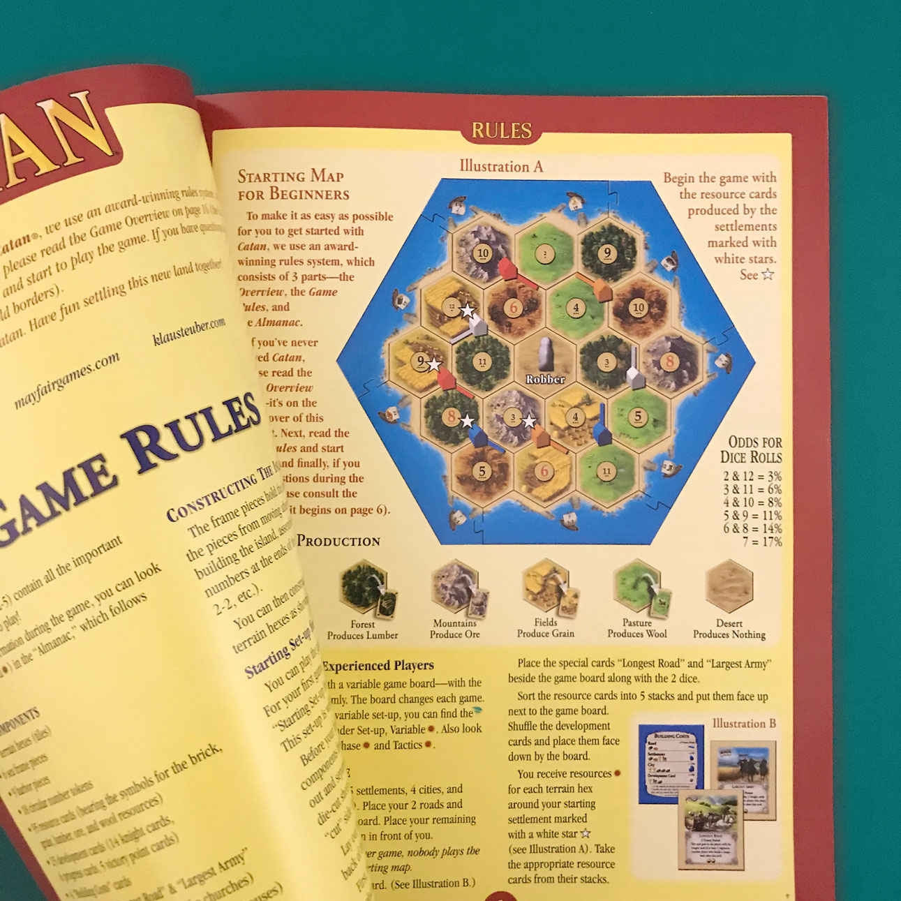 settlers of catan beginners set-up