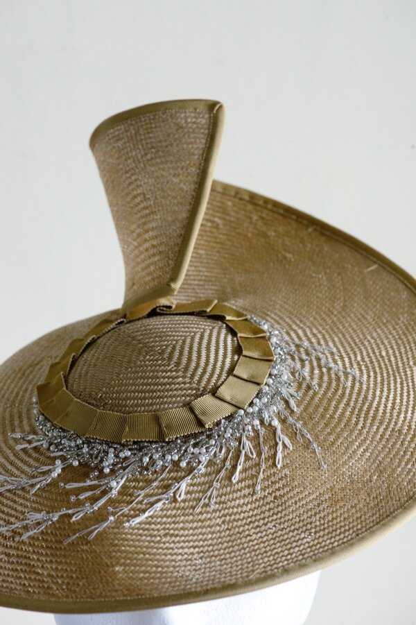 Gold straw coolie hat with bead embellishment   Copy.jpg