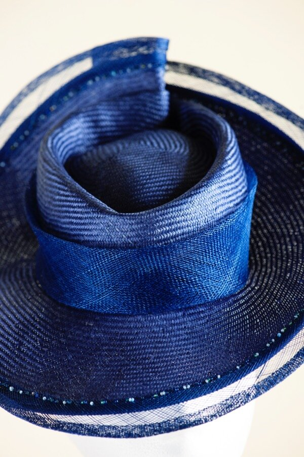 A royal blue percher hat *Sold*  Copy.jpg
