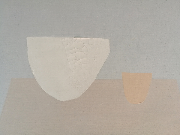 'white bowl, nude cup'  acrylic on linen canvas  56x41 cm  2018  ( sold )