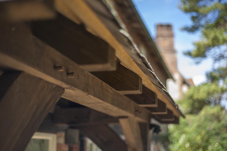 Detail of Timber Frame Eaves