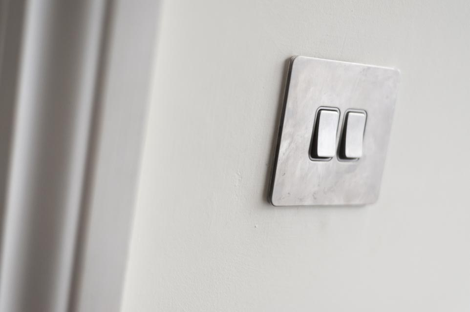 Brushed Chrome Light Switch