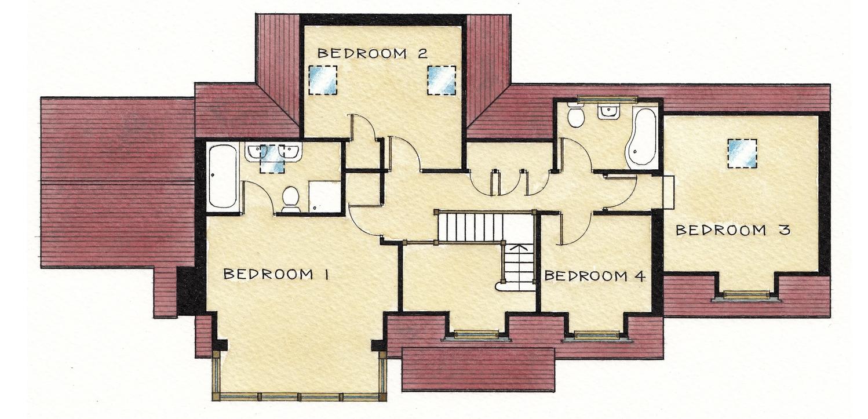 First Floor Plan Sandgate Lane, Storrington - New Build Home - www.jolliffdevelopments.com