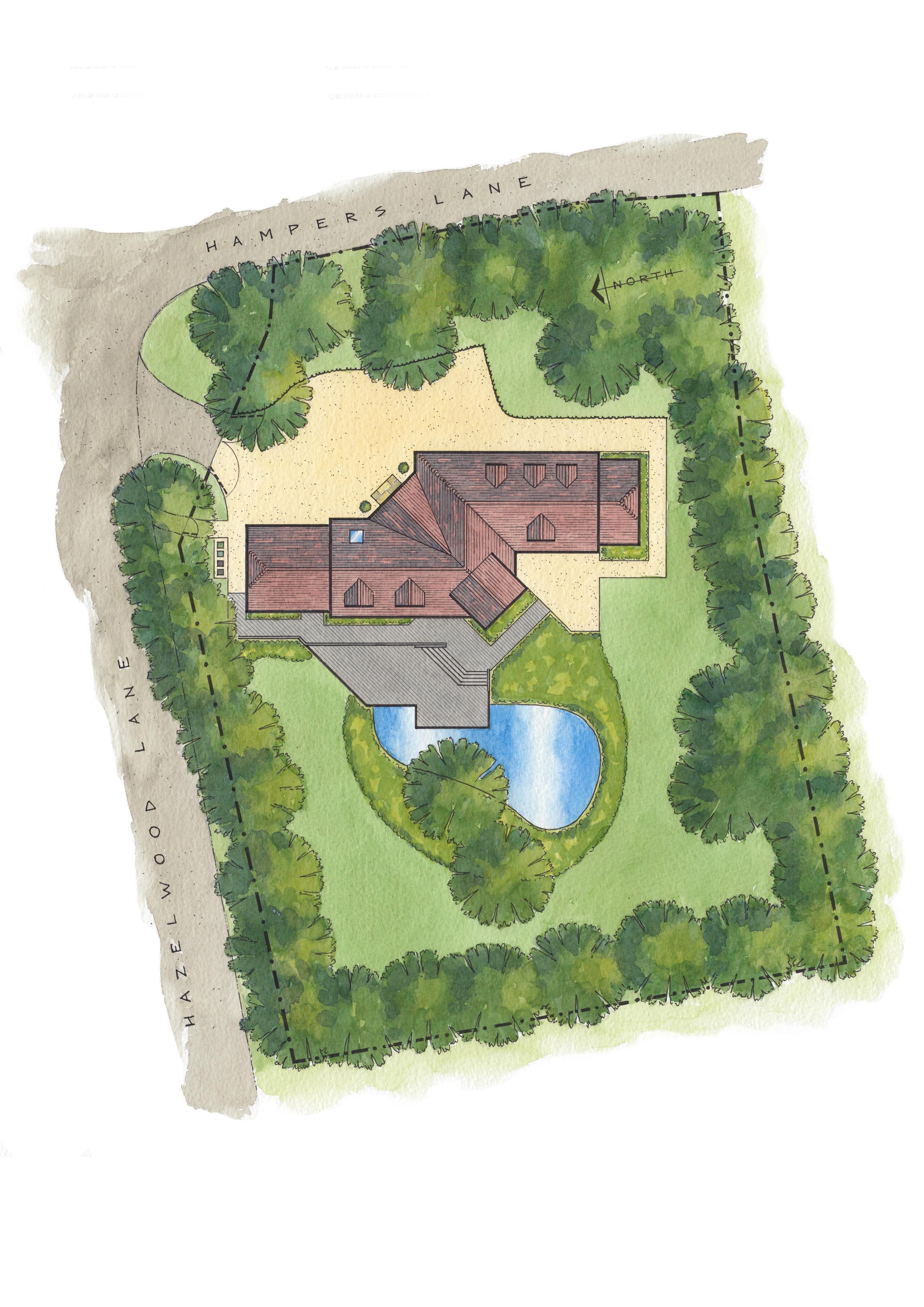 Hampers Lane Artist Impression Plan View