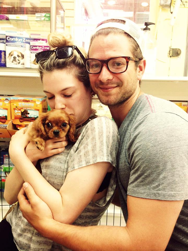 Jordan, Greta, and Me - the day we decided to buy the little sucker.