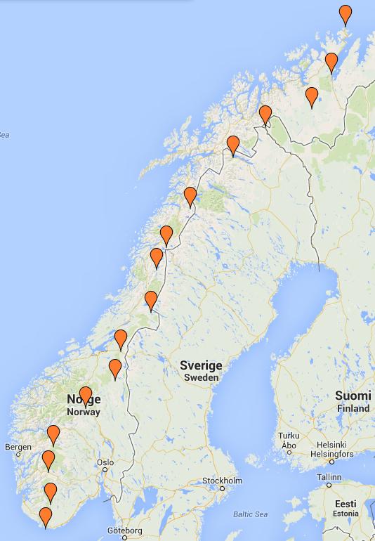 Turen frå Nordkapp til Lindesnes gjorde jentene unna på 103 dagar.