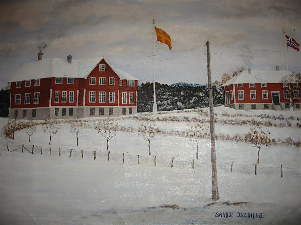 Haugatun slik det stod fram ved oppstarten i 1914.
