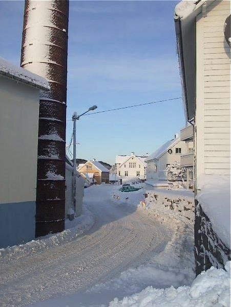 …men det var før i tida. I år ser det ikkje ut til at det kjem meir snø før jul, så vi får nøya oss med minnene om det som ein gong var. Torhild S. Cascales frå Sunde, no busett i Frankrike, tok dette bildet for nokre år attende.