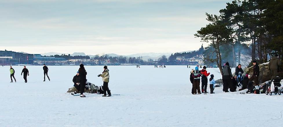 Opsangersvatnet på vinterstid kallar fram mange gode minne. (Illustrasjonsfoto: Lars Martin Teigen).