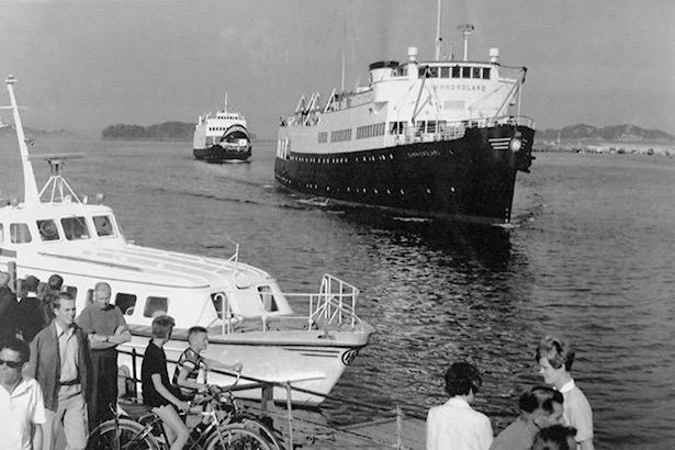 «Sunnhordland» la til Sunnhordlandskaien på Stord presis presis kl 17.45, måndag til laurdag (Foto: Tor Resser).