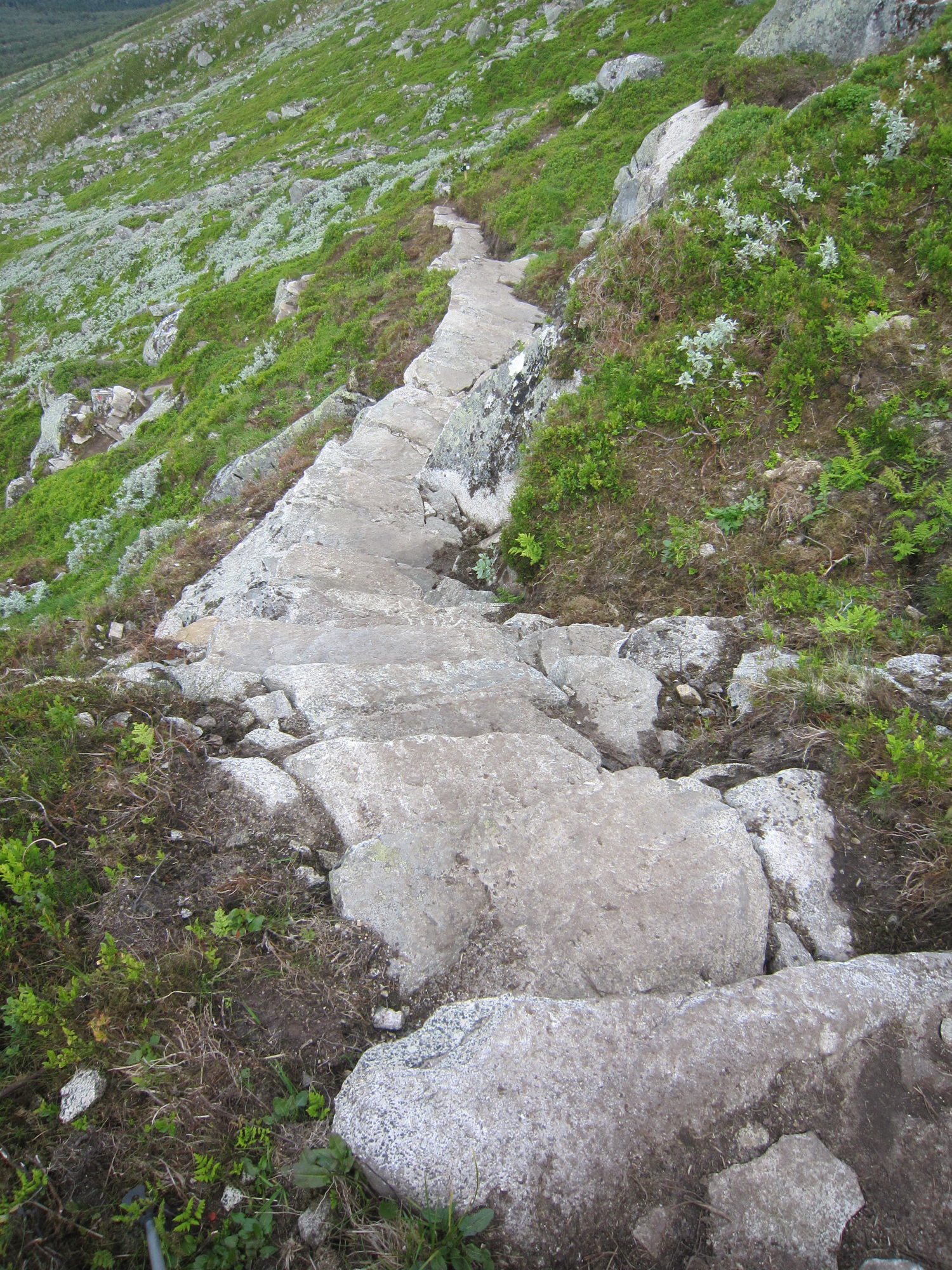 244 meter stein, den siste på 880 meters høgde er på plass over Skarsklyp. (Foto: Olav B. Espeland)