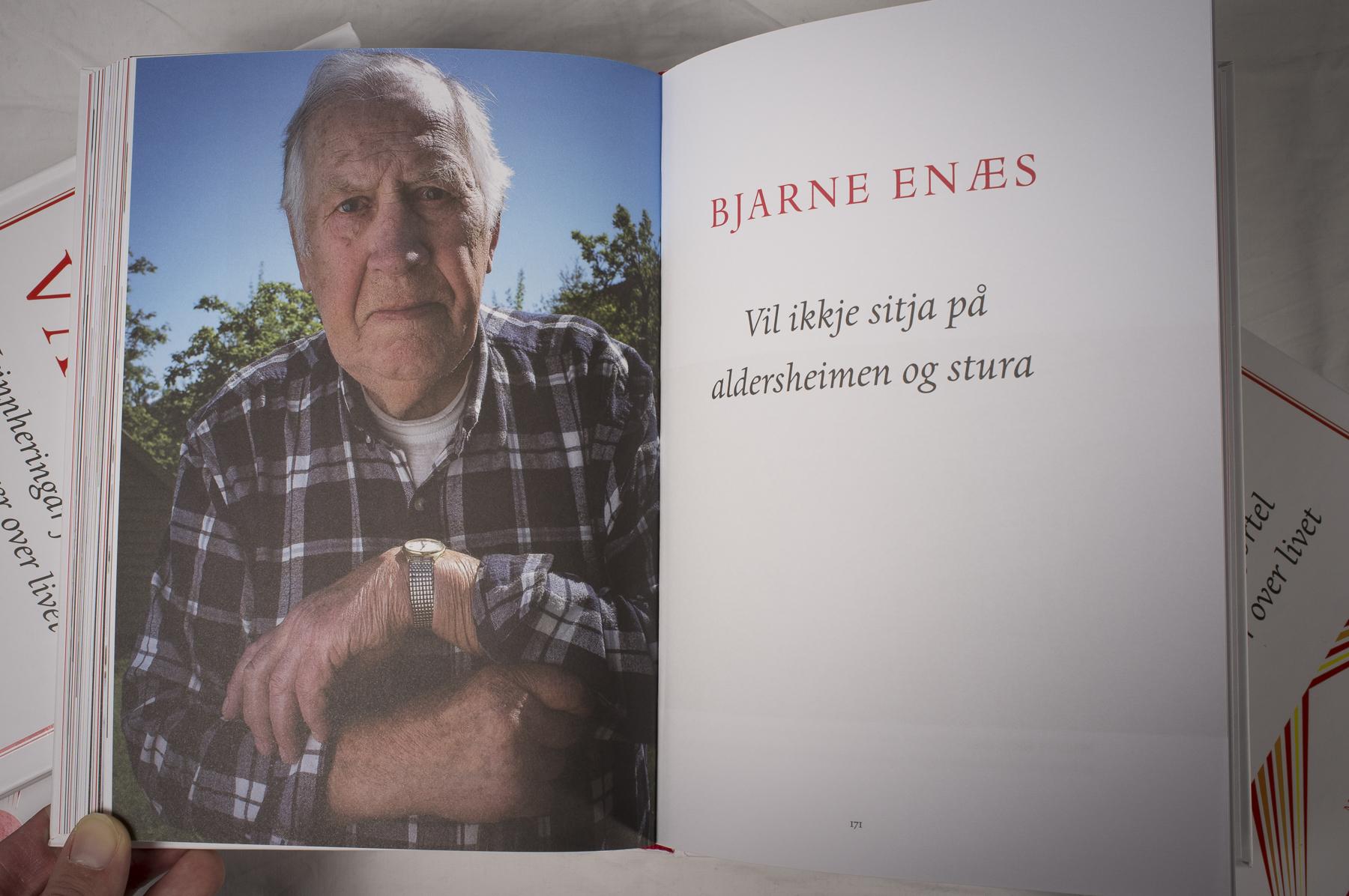 Bjarne Enæs er ein av dei som er med i boka. (Foto: Kristen Børje Hus)