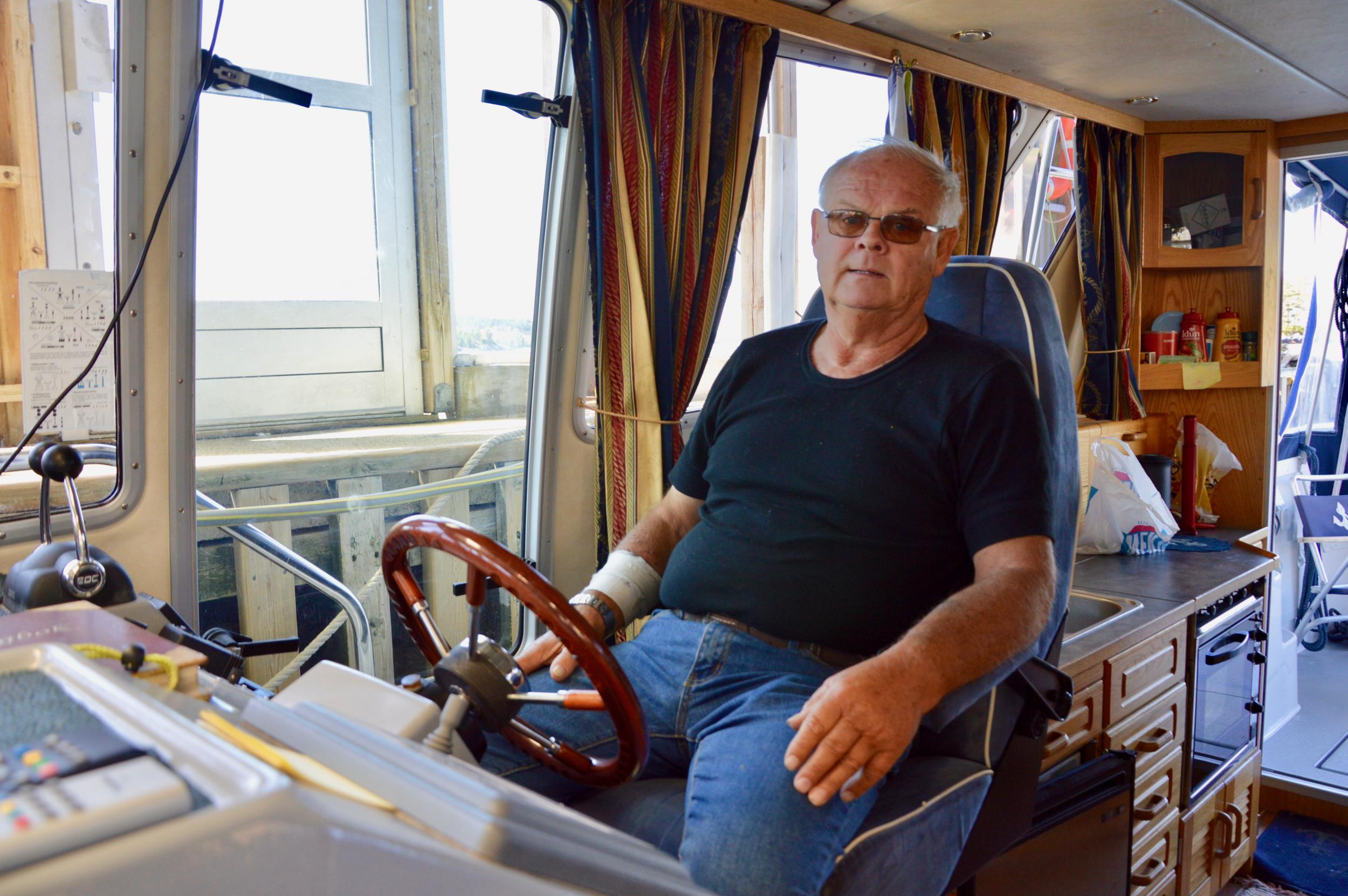 Det var her ved båten i Røsslandsvikjo Håkon fekk hjarteinfarktet.