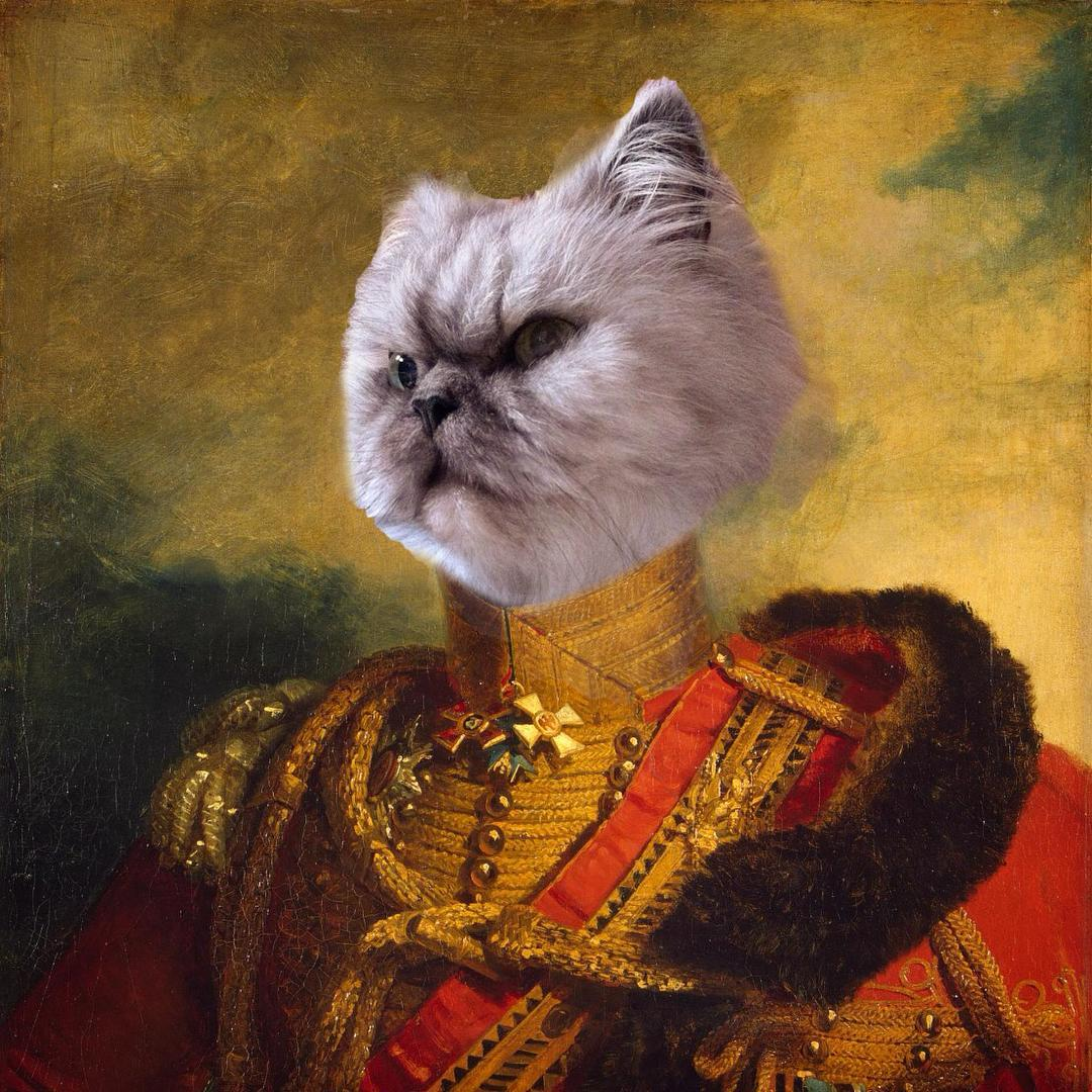 General Bisbis Von Hishis, the greatest Mew of our time who led us to victory in the Battle of the Cute.