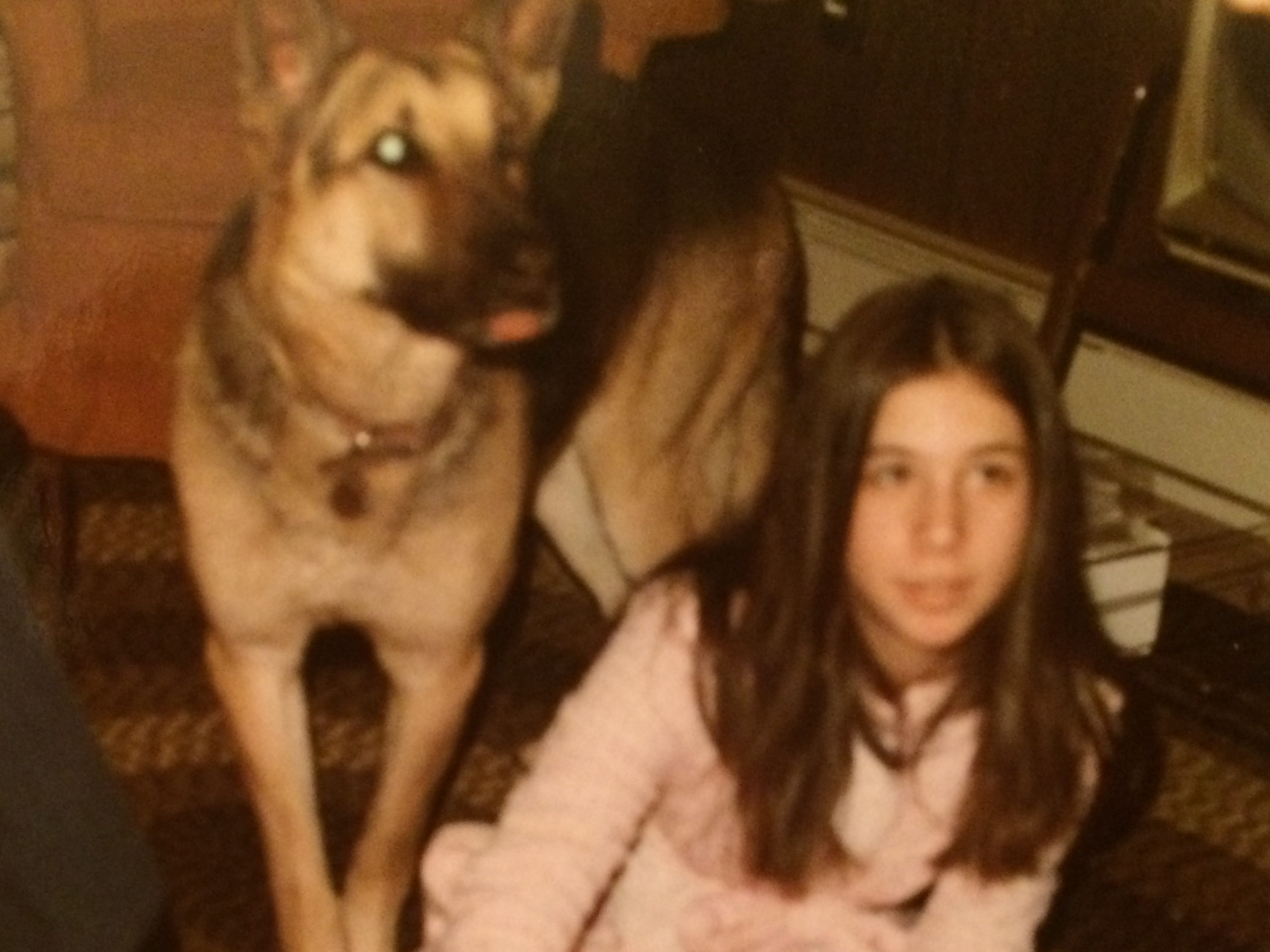 Our German Shepherd was always on duty, protecting me from evil!