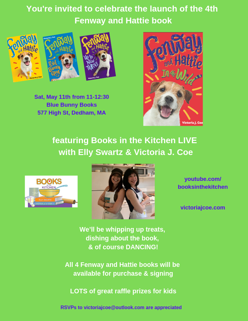 You're invited to celebrate the launch of the 4th Fenway and Hattie book.png