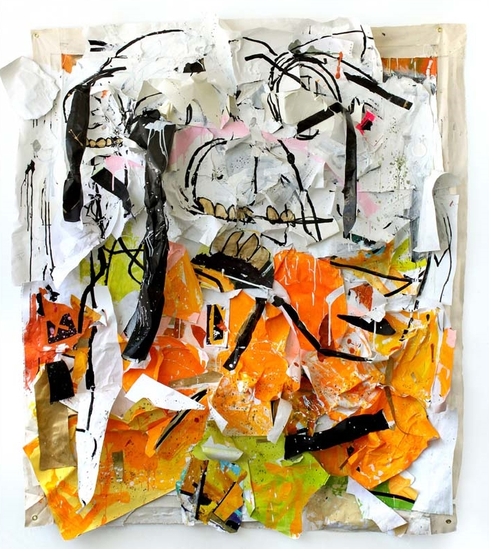 Sportsmanship Is For Suckers  Acrylic, Marker on Acid-Free Paper  85(vertical)x74(horizontal)x8 inches  2013  * private collection; cover for TEXAS ABSTRACT:MODERN+CONTEMPORARY (Fresco Books)