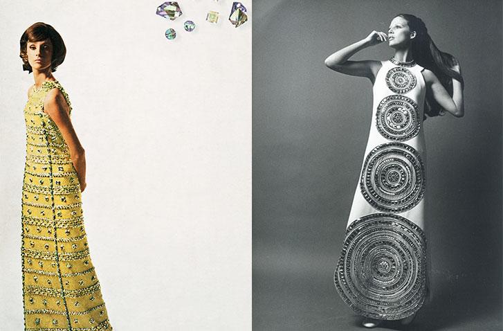 LEFT: Christian Dior and Swarovski Advertisement. RIGHT: Lanvin, 1969 IMAGES: Swarovski Archive