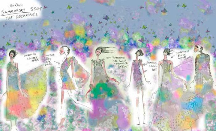 Sketch: Erdem Spring/Summer 2009 Collection