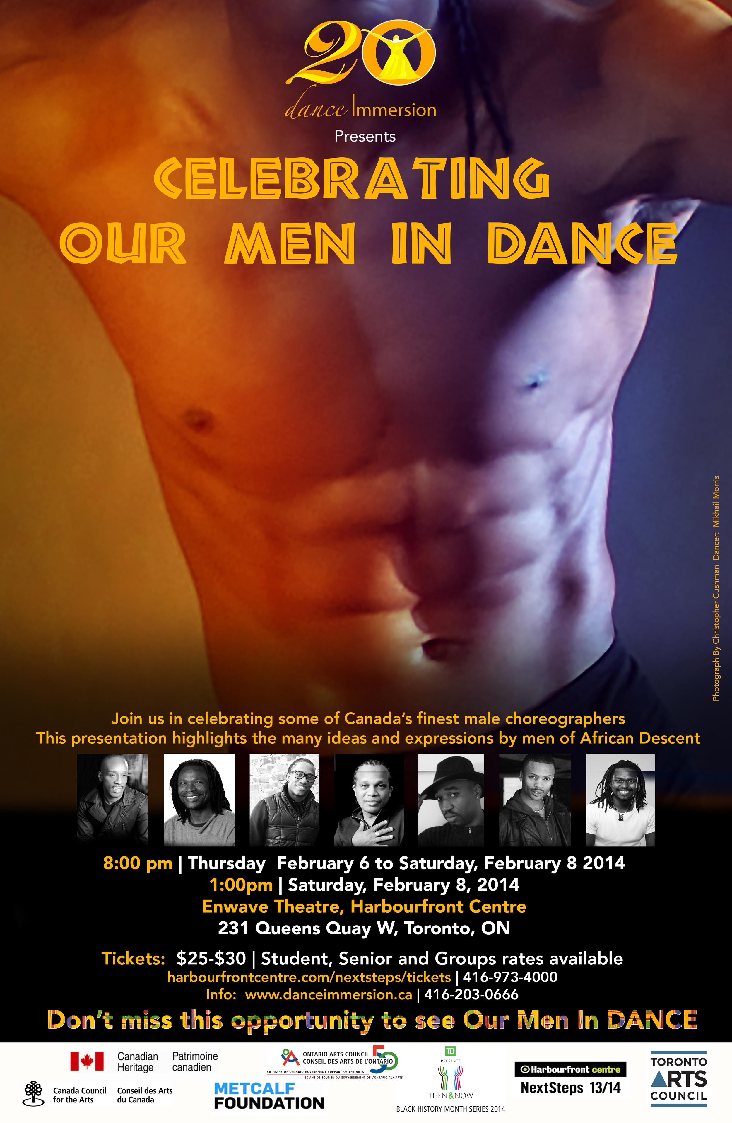 "February 2014  2014 Showcase Presentation ""Celebrating Our Men in Dance"""