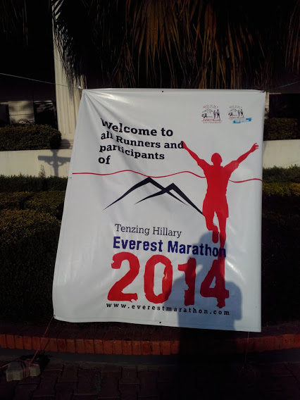 A warm welcome to all participants of the Everest Marathon 2014