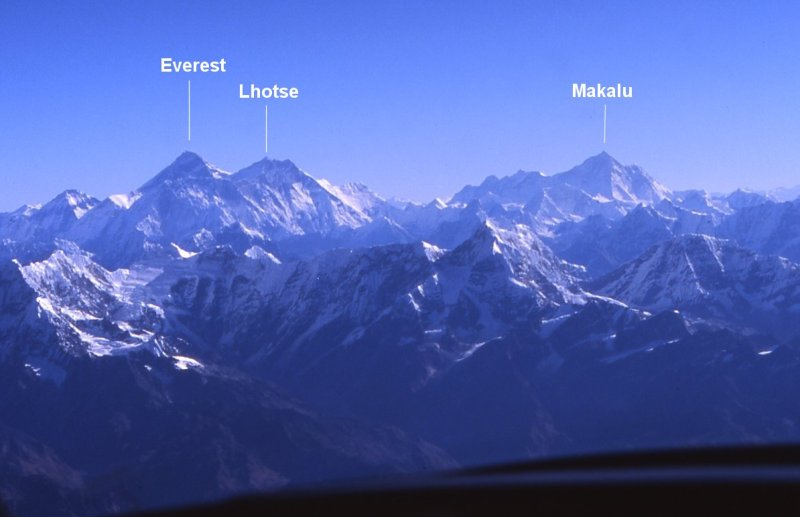 Mt. Everest, Mt. Lhotse & Mt. Makalu