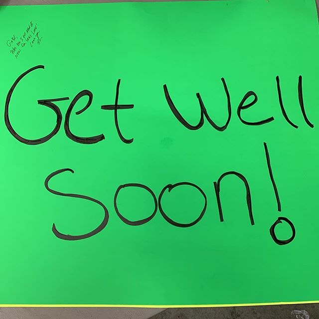 Come on down & sign Gabe's get well card!